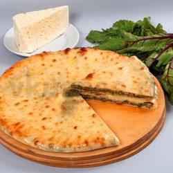 Осетинский пирог с листьями свеклы фото