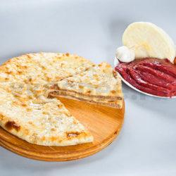 Осетинский пирог с капустой и мясом фото