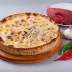 Праздничный осетинский пирог с мясом фото