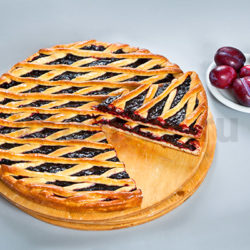 Осетинский пирог со сливами фото