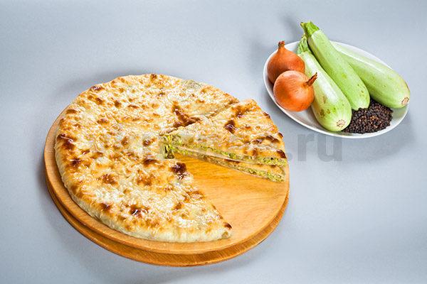 Осетинский пирог с кабачками фото