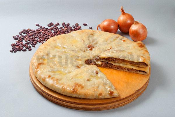 Осетинский пирог с фасолью фото