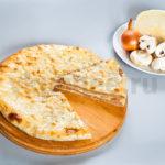 Осетинский пирог с капустой и грибами фото