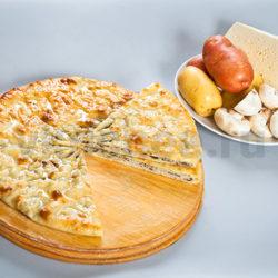 Осетинский пирог с картошкой, грибами и сыром фото